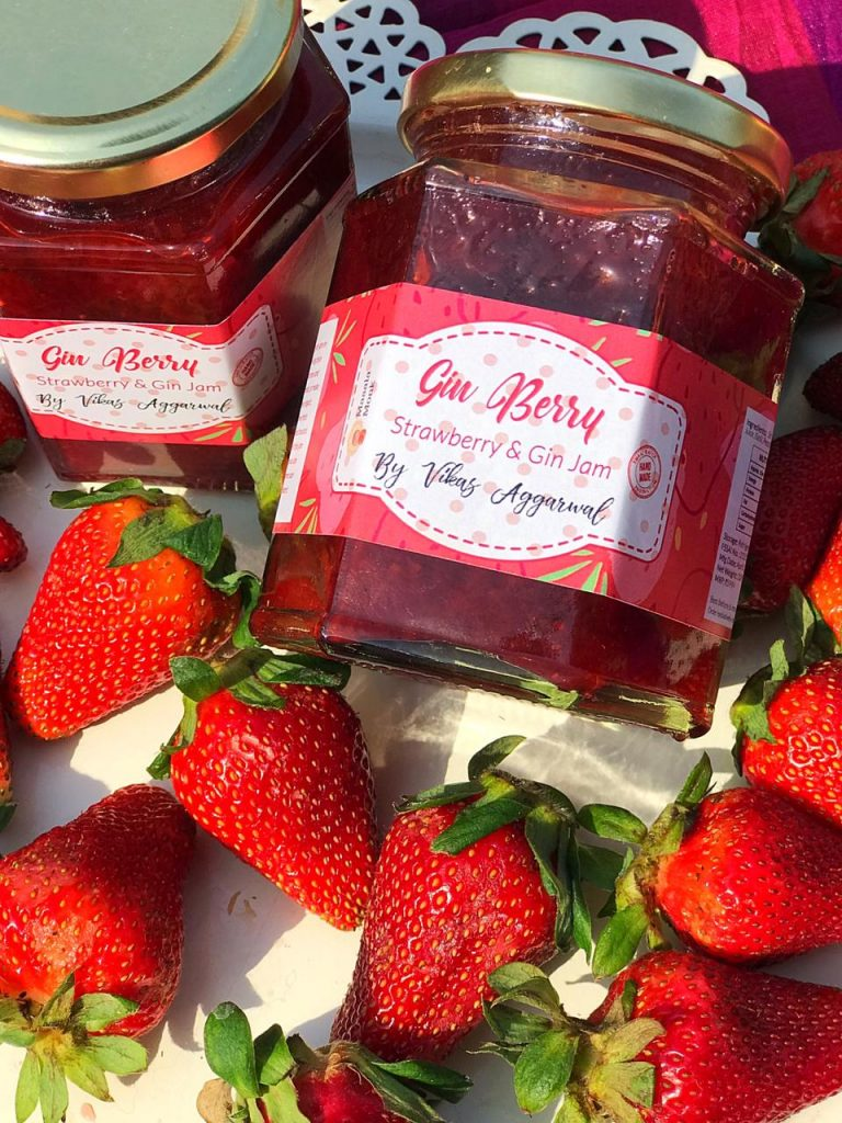 Gin Berry : Strawberry & Gin Jam by Masala Monk
