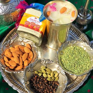 Rose Thandai Power with almonds, pepper corns, fennel etc